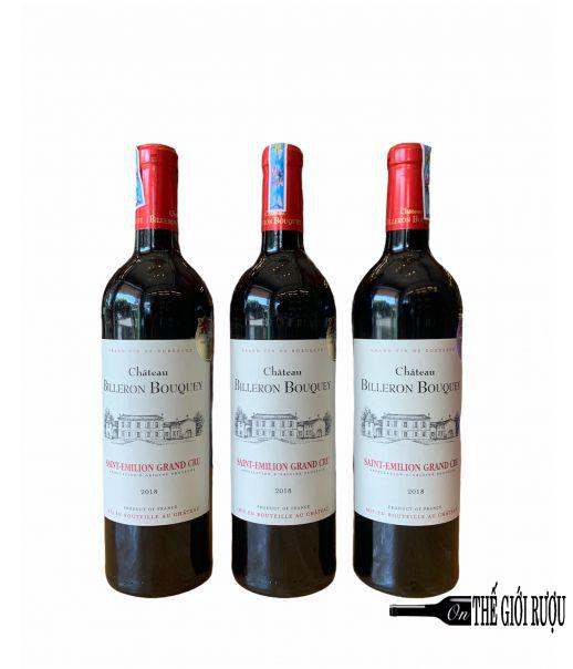 Chateau Billeron Bouquey 2018 Saint Emilion Grand Cru